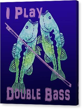 I Play Double Bass Canvas Print by Jenny Armitage