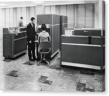 Ibm 650 Data Processing System Canvas Print by Underwood Archives