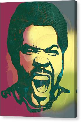 Ice Cube - Stylised Drawing Art Poster Canvas Print by Kim Wang