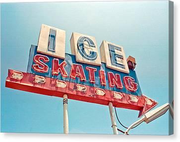Ice Skating Canvas Print by Matthew Bamberg