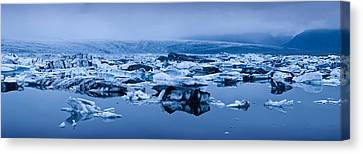 Icebergs In A Glacial Lake, Jokulsarlon Canvas Print by Panoramic Images