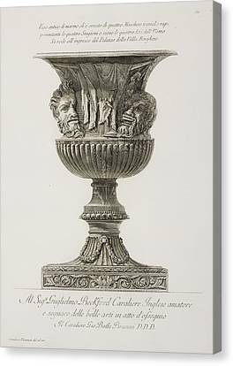 Illustration Of Classical Urn Canvas Print by British Library