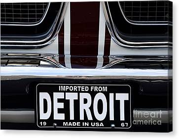 Imported From Detroit Canvas Print by Dennis Hedberg