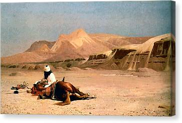 In The Desert Canvas Print by Jean-Leon Gerome