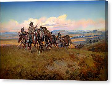 In The Enemy's Country Canvas Print by Mountain Dreams