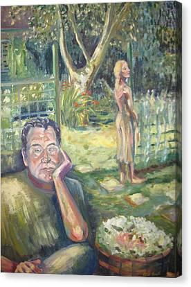 In The Garden Canvas Print by Ellen Howell