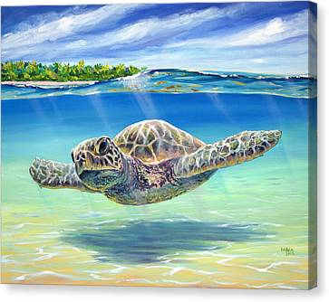 In The Shallows Canvas Print by Patrick Parker