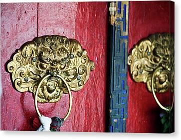 Tibetan Canvas Print - India, Ladakh, Likir, Close-up by Anthony Asael