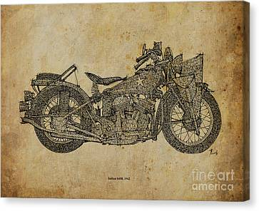Indian 640b 1942 Canvas Print by Pablo Franchi