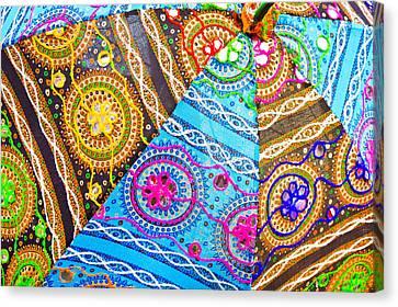 Indian Cloth Canvas Print by Tom Gowanlock