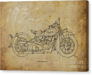Indian Scout 1932 Canvas Print