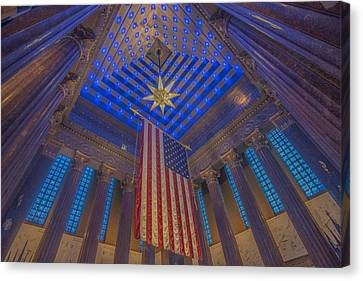 Indiana War Memorial Shrine  Canvas Print by David Haskett