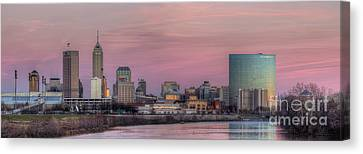 Indianapolis Skyline Canvas Print by Twenty Two North Photography