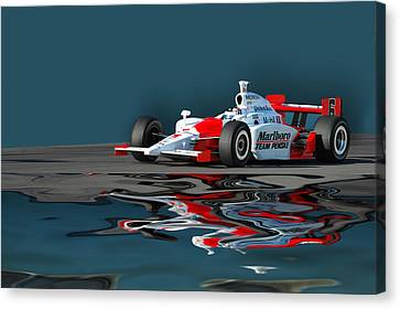 Indy Reflection Canvas Print by Kevin Cable
