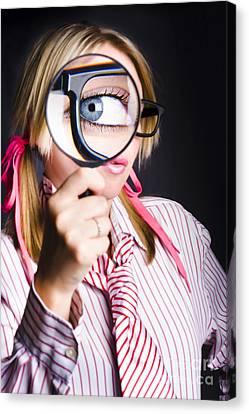 Inquisitive Nerd Searching For Information Canvas Print by Jorgo Photography - Wall Art Gallery