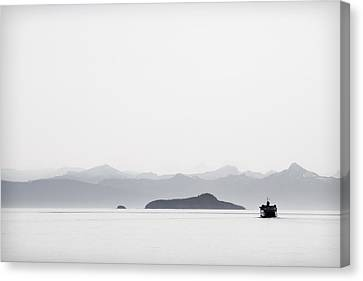 Pacific Northwest Ferry Canvas Print - Inside Passage Alaska by Carol Leigh
