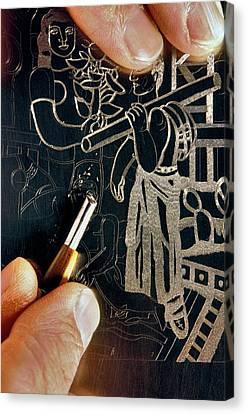 Printmaking Canvas Print - Intaglio Printmaking by Patrick Landmann