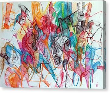 Interchange Between Ambition And Restraint 3 Canvas Print by David Baruch Wolk