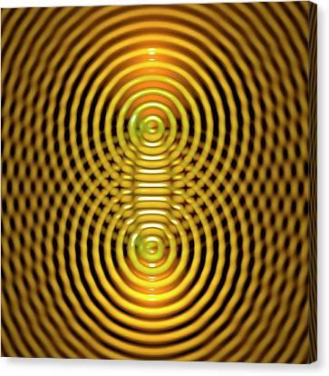 Interference Patterns Canvas Print