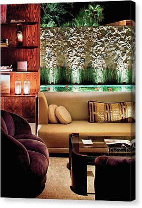 Interior Of Modern Living Room Canvas Print by Scott Frances