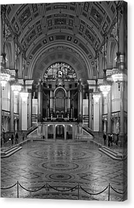 Interior Of St Georges Hall Liverpool Uk Grade 1 Listed Build Canvas Print by Ken Biggs