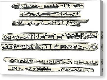 Inuit Weapon Carvings, Artwork Canvas Print