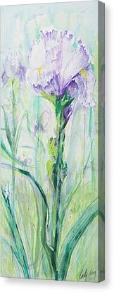 Canvas Print featuring the painting Iris Number One by Cathy Long