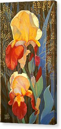 Canvas Print featuring the painting Irises by Marina Gnetetsky