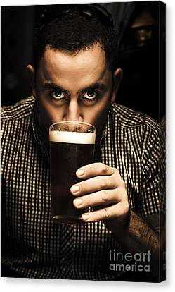 Patrick Canvas Print - Irish Man Drinking Beer On St Patricks Day by Jorgo Photography - Wall Art Gallery