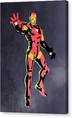 Caricatures Canvas Print - Iron Man  by Mark Ashkenazi