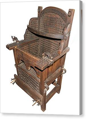 Iron Torture Chair Canvas Print by David Parker