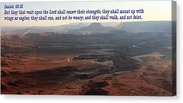 Isaiah 40-31 Canyonlands N P  Canvas Print