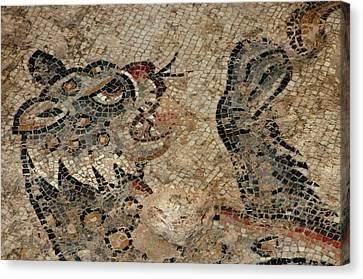 Israel, Lower Galilee, Floor Mosaic Canvas Print by Ellen Clark