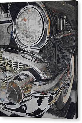 57 Chevy Canvas Print - It Was A Very Good Year-two by Brenda McCollum