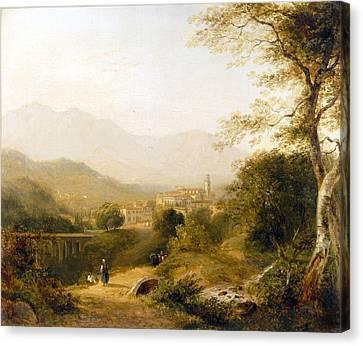 Italian Landscape Canvas Print - Italian Landscape by Joseph William Allen
