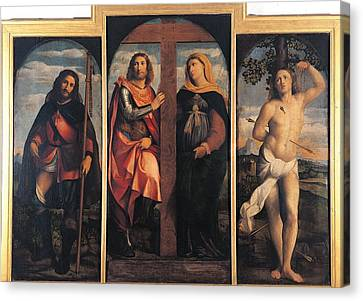 Sts Constantine And Helen Canvas Print - Italy, Lombardy, Milan, Brera Art by Everett