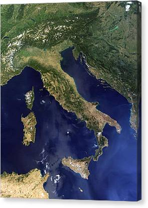 Italy, Satellite Image Canvas Print by Science Photo Library