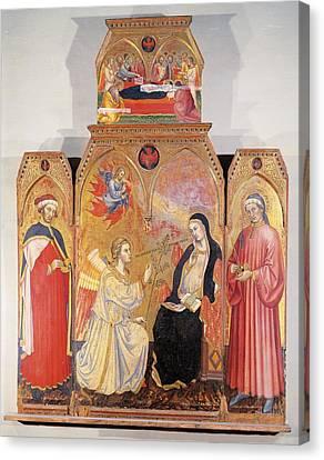 Italy, Tuscany, Siena, National Art Canvas Print by Everett