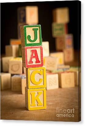 Jack - Alphabet Blocks Canvas Print by Edward Fielding