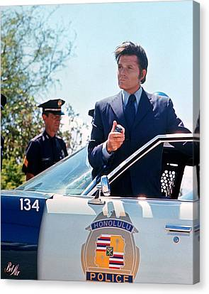 Jack Lord In Hawaii Five-o  Canvas Print by Silver Screen