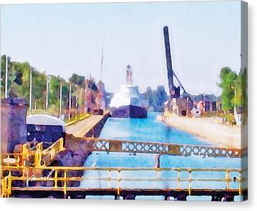 Jacknife Bridge 2 Canvas Print