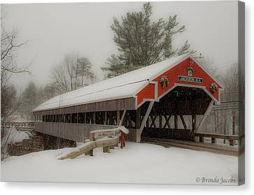 Jackson Nh Covered Bridge Canvas Print