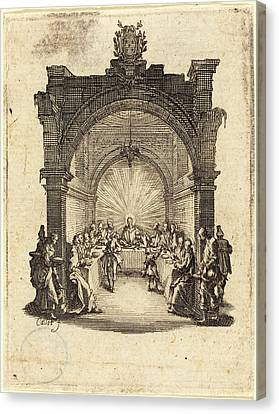 Last Supper Canvas Print - Jacques Callot French, 1592 - 1635, The Last Supper by Quint Lox