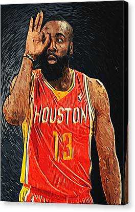 James Harden Canvas Print by Taylan Apukovska