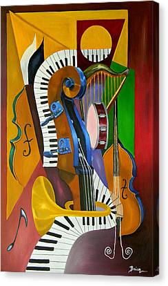 Jammin With Jc Canvas Print by Brien Cole