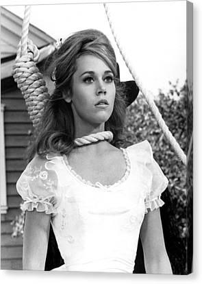 Jane Fonda In Cat Ballou  Canvas Print by Silver Screen