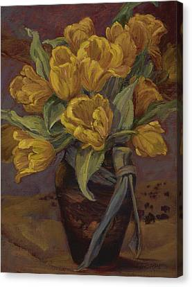 Yellow Tulips- And Buffalo Dreams Canvas Print by Jane Thorpe