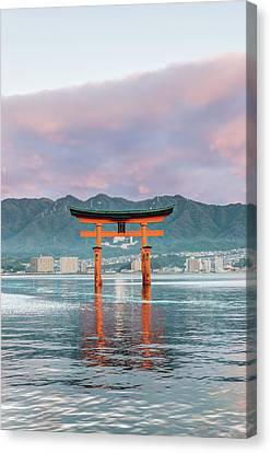 Torii Canvas Print - Japan, Miyajima, Itsukushima Shrine by Rob Tilley