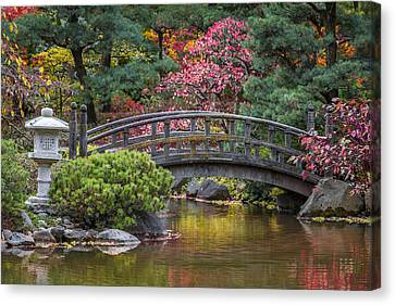 Canvas Print featuring the photograph Japanese Bridge by Sebastian Musial