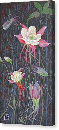 Canvas Print featuring the painting Japanese Flowers by Marina Gnetetsky